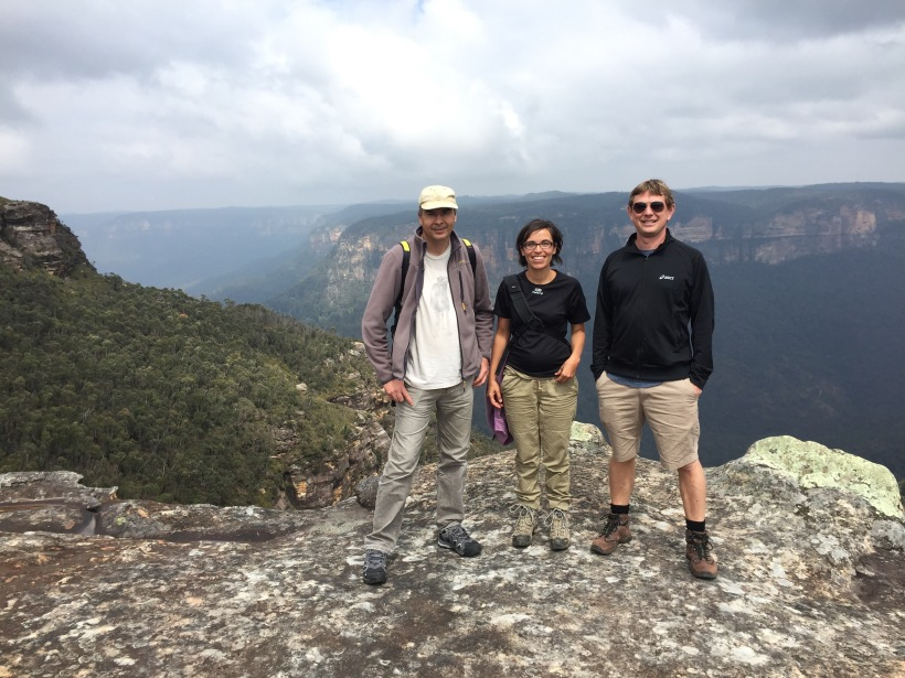 Herve, Rosana and Brendan at Mt Banks NP, NSW