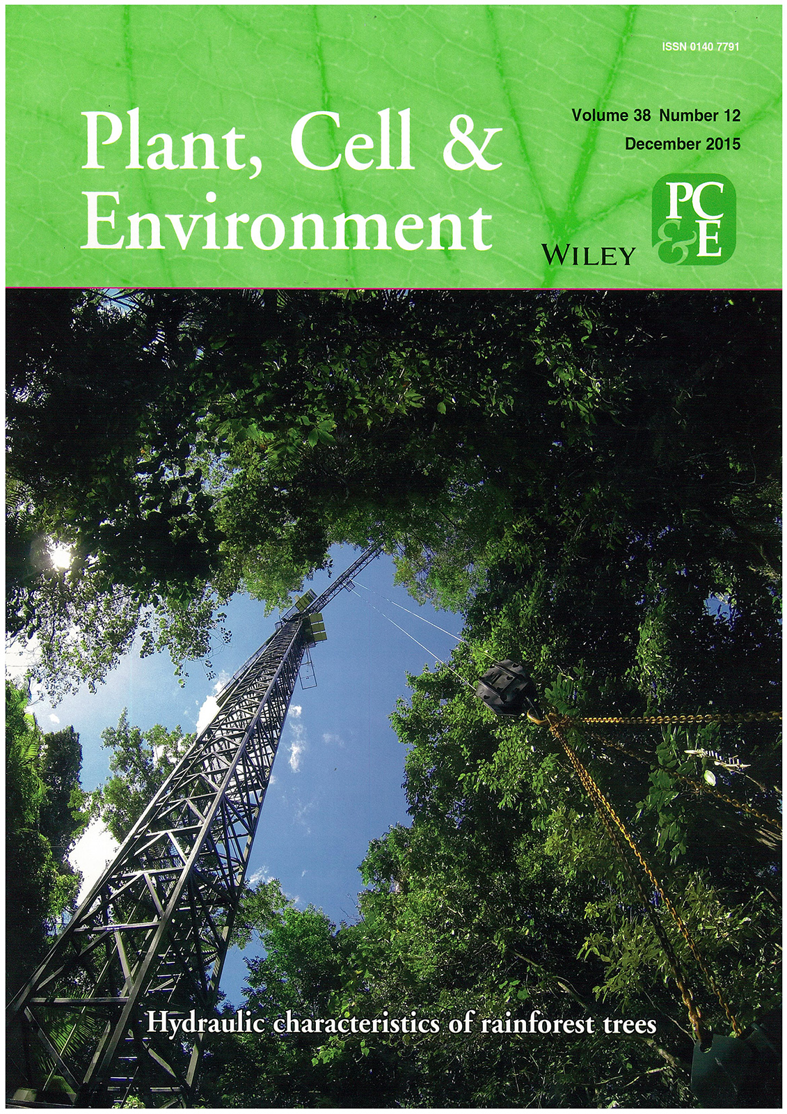 Featured Article In Plant Cell And Environment The Choat Lab